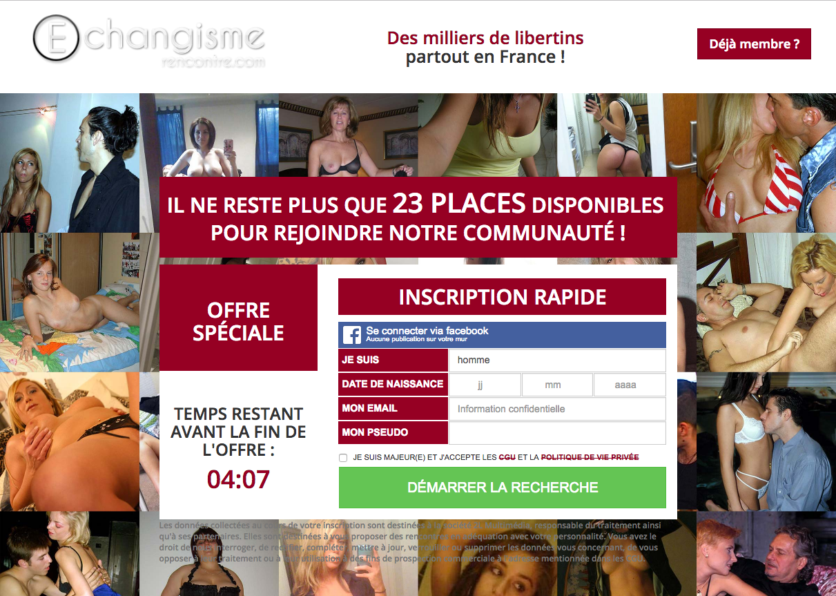 site de rencontre libertin sites echangistes